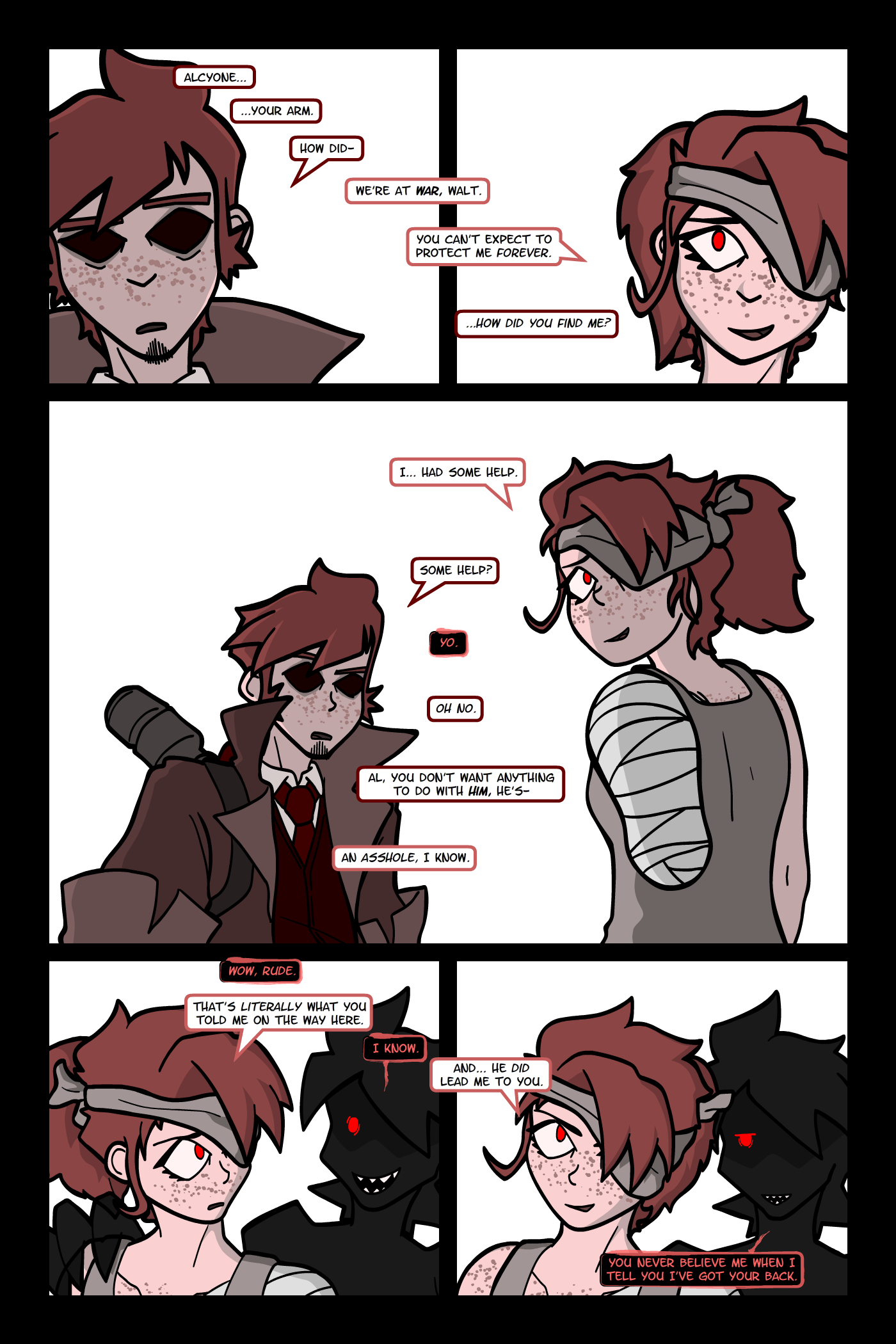 look, these pages represent a specific liminal space in which only the twins perceive the rumor, and not me being too lazy to draw backgrounds